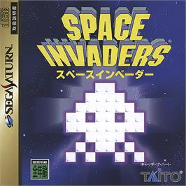 Box cover for Space Invaders on the Sega Saturn.