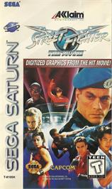 Box cover for Street Fighter: The Movie on the Sega Saturn.