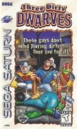 Box cover for Three Dirty Dwarves on the Sega Saturn.