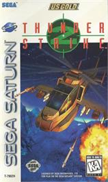 Box cover for Thunder Strike 2 on the Sega Saturn.