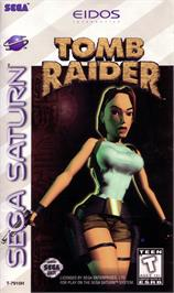 Box cover for Tomb Raider on the Sega Saturn.