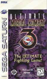 Box cover for Ultimate Mortal Kombat 3 on the Sega Saturn.