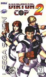 Box cover for Virtua Cop 2 on the Sega Saturn.