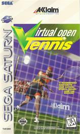 Box cover for Virtual Open Tennis on the Sega Saturn.