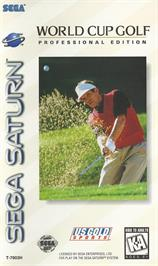 Box cover for World Cup Golf: Professional Edition on the Sega Saturn.