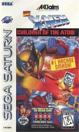 Box cover for X-Men: Children of the Atom on the Sega Saturn.