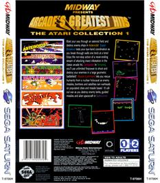 Box back cover for Arcade's Greatest Hits: The Atari Collection 1 on the Sega Saturn.