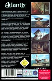 Box back cover for Atlantis: The Lost Tales on the Sega Saturn.