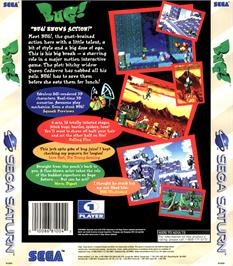 Box back cover for Bug on the Sega Saturn.