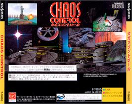 Box back cover for Chaos Control on the Sega Saturn.