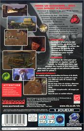 Box back cover for Command & Conquer on the Sega Saturn.