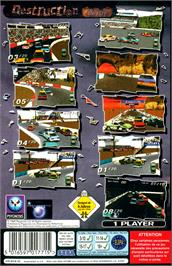Box back cover for Destruction Derby on the Sega Saturn.