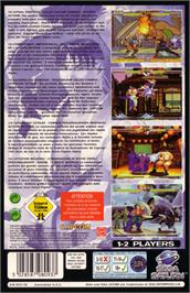 Box back cover for Street Fighter Alpha 2 on the Sega Saturn.