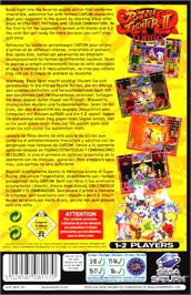 Box back cover for Super Puzzle Fighter II Turbo on the Sega Saturn.