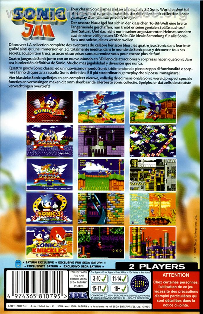 Sonic Jam - Sega Saturn - Games Database