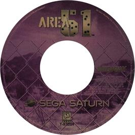 Artwork on the CD for Area 51 on the Sega Saturn.