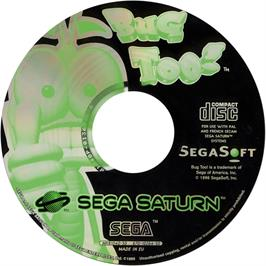Artwork on the CD for Bug Too on the Sega Saturn.