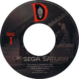 Artwork on the CD for D on the Sega Saturn.