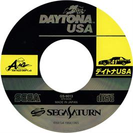 Artwork on the CD for Daytona USA on the Sega Saturn.