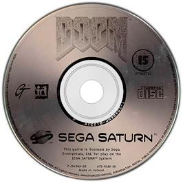 Artwork on the CD for Doom on the Sega Saturn.