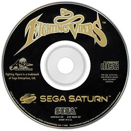 Artwork on the CD for Fighting Vipers on the Sega Saturn.