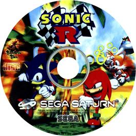 Artwork on the CD for Sonic R on the Sega Saturn.