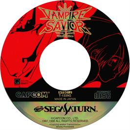 Artwork on the CD for Vampire Savior: The Lord of Vampire on the Sega Saturn.