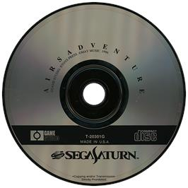 Artwork on the Disc for Airs Adventure on the Sega Saturn.
