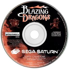 Artwork on the Disc for Blazing Dragons on the Sega Saturn.