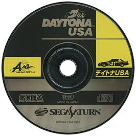 Artwork on the Disc for Daytona USA on the Sega Saturn.
