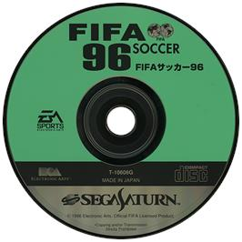Artwork on the Disc for FIFA 96 on the Sega Saturn.