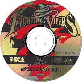 Artwork on the Disc for Fighting Vipers on the Sega Saturn.