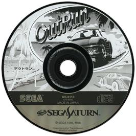 Artwork on the Disc for Out Run on the Sega Saturn.