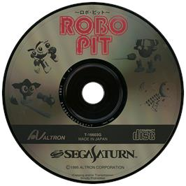 Artwork on the Disc for Robo Pit on the Sega Saturn.