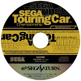 Artwork on the Disc for Sega Touring Car Championship on the Sega Saturn.