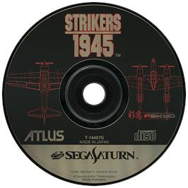 Artwork on the Disc for Strikers 1945 on the Sega Saturn.