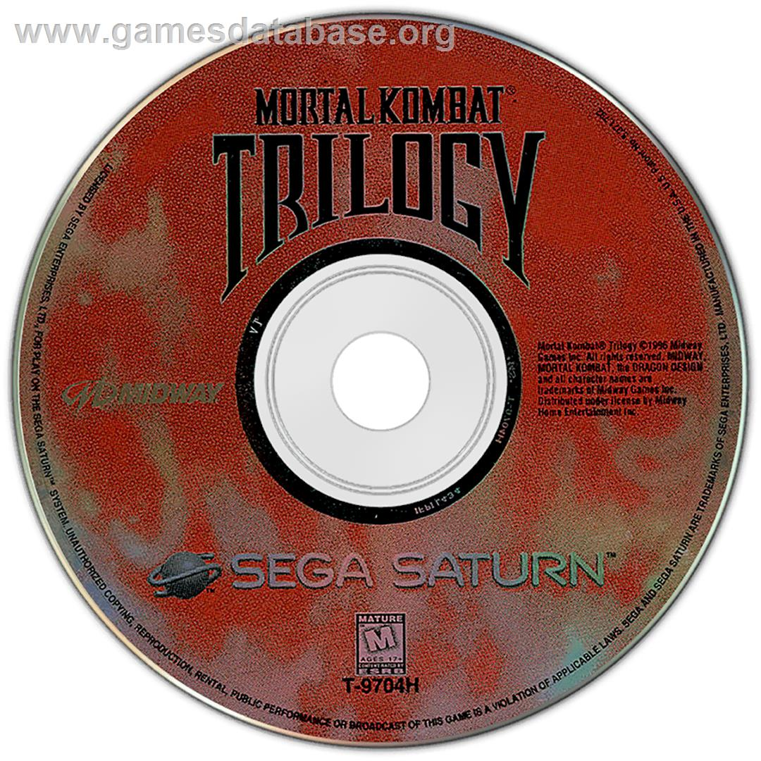 Mortal Kombat Trilogy - Sega Saturn - Artwork - Disc
