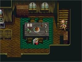In game image of Albert Odyssey: Legend of Eldean on the Sega Saturn.