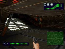 In game image of Alien Trilogy on the Sega Saturn.