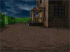 In game image of Alone In the Dark: One-Eyed Jack's Revenge on the Sega Saturn.
