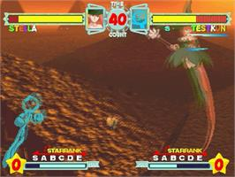In game image of Astra SuperStars on the Sega Saturn.