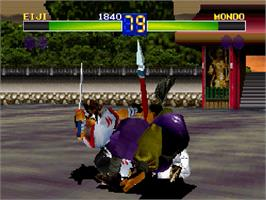 In game image of Battle Arena Toshinden Remix on the Sega Saturn.