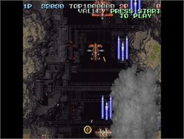 In game image of Battle Garegga on the Sega Saturn.