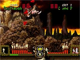 In game image of Battle Monsters on the Sega Saturn.