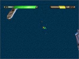 In game image of Battle Stations on the Sega Saturn.