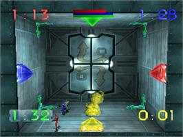 In game image of Blast Chamber on the Sega Saturn.