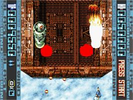 In game image of Blast Wind on the Sega Saturn.