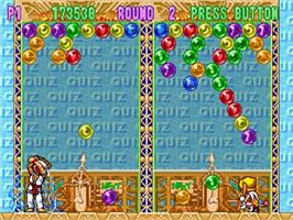 In game image of Bust a Move 3 on the Sega Saturn.