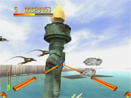In game image of Chaos Control on the Sega Saturn.