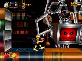 In game image of Clockwork Knight 2 on the Sega Saturn.